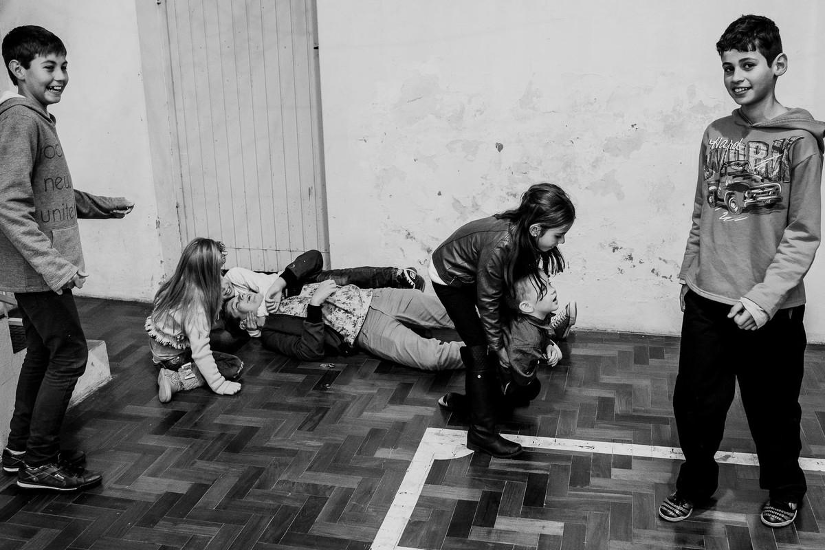 fotografia documental de festa infantil no interior do RS