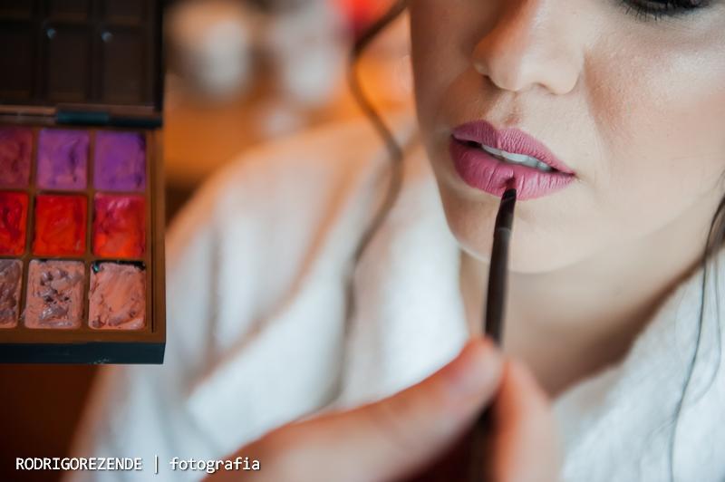 Making Of noiva, maquiagem