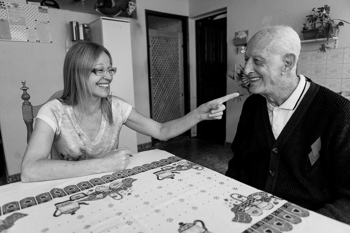 Foto de O amor de Jussara pelo pai Sr. Augusto