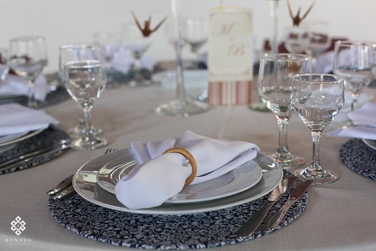 foto do detalhe da decoração do lindo Recanto Santa Barbara.