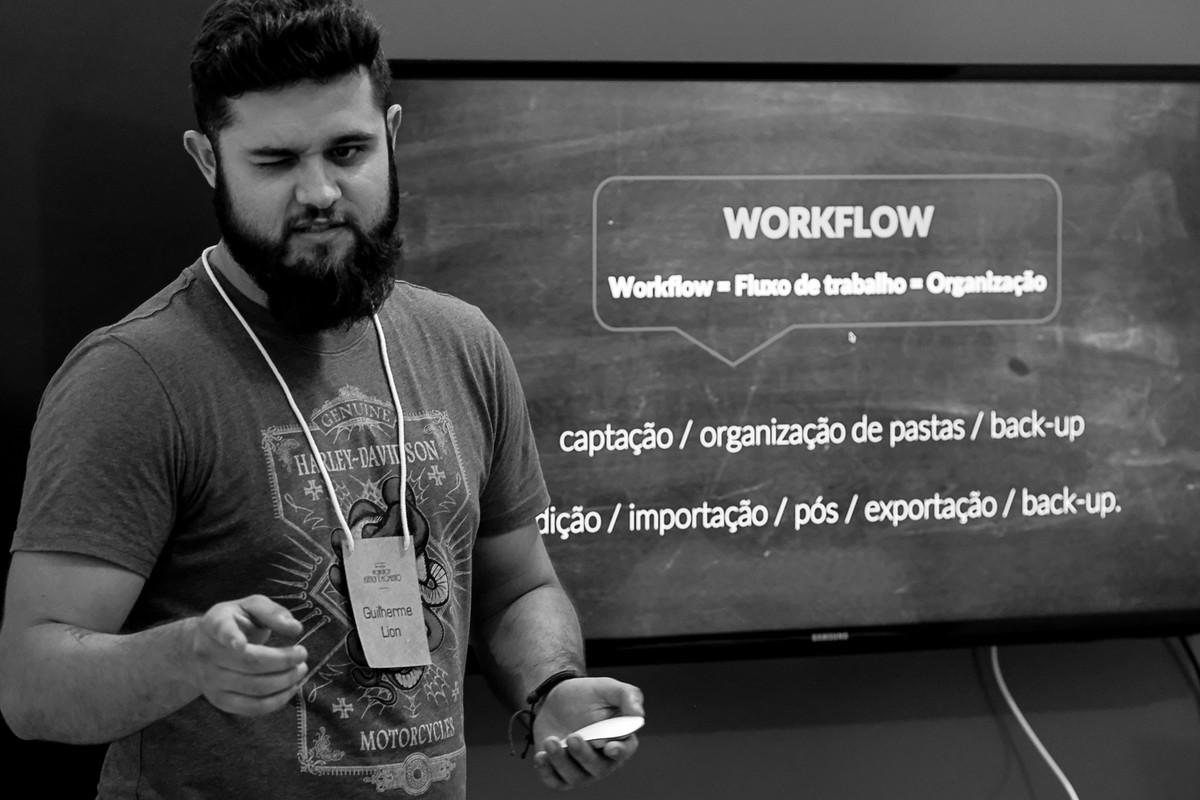 GuilhermeLion Fotógrafo, faz sua palestra de 40 minutos dentro do curso Estética e Momento.
