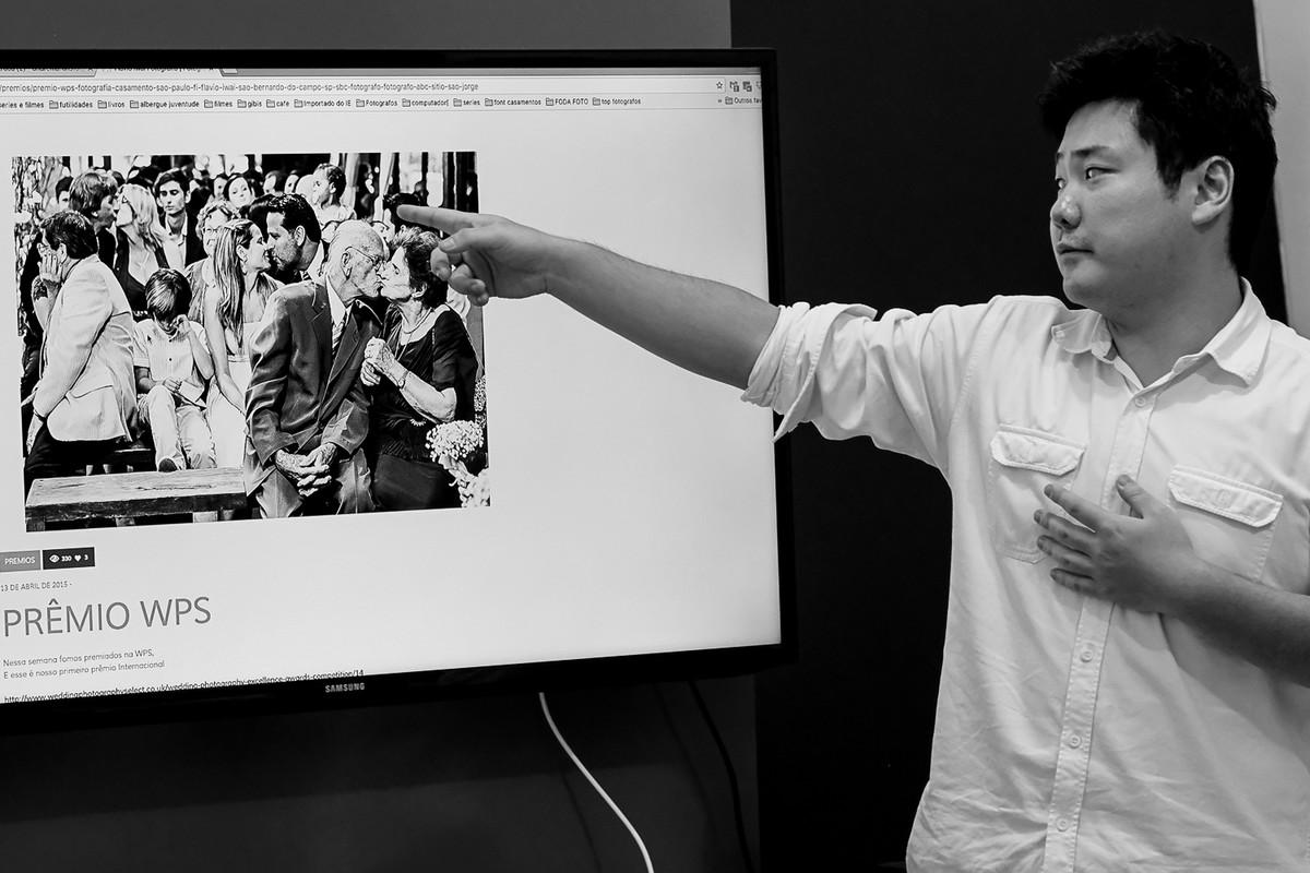 Flavio Iwai Fotógrafo, faz sua palestra de 40 minutos dentro do curso Estética e Momento.