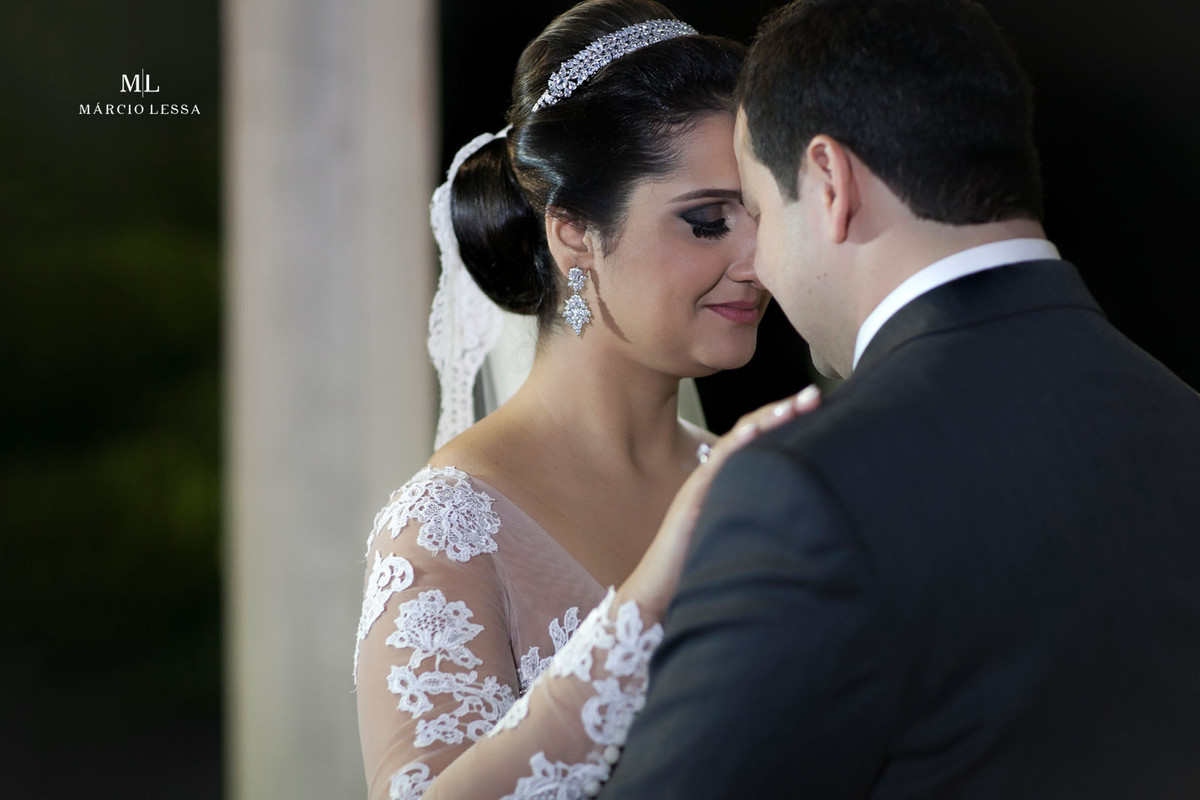 Linda fotografia dos noivos
