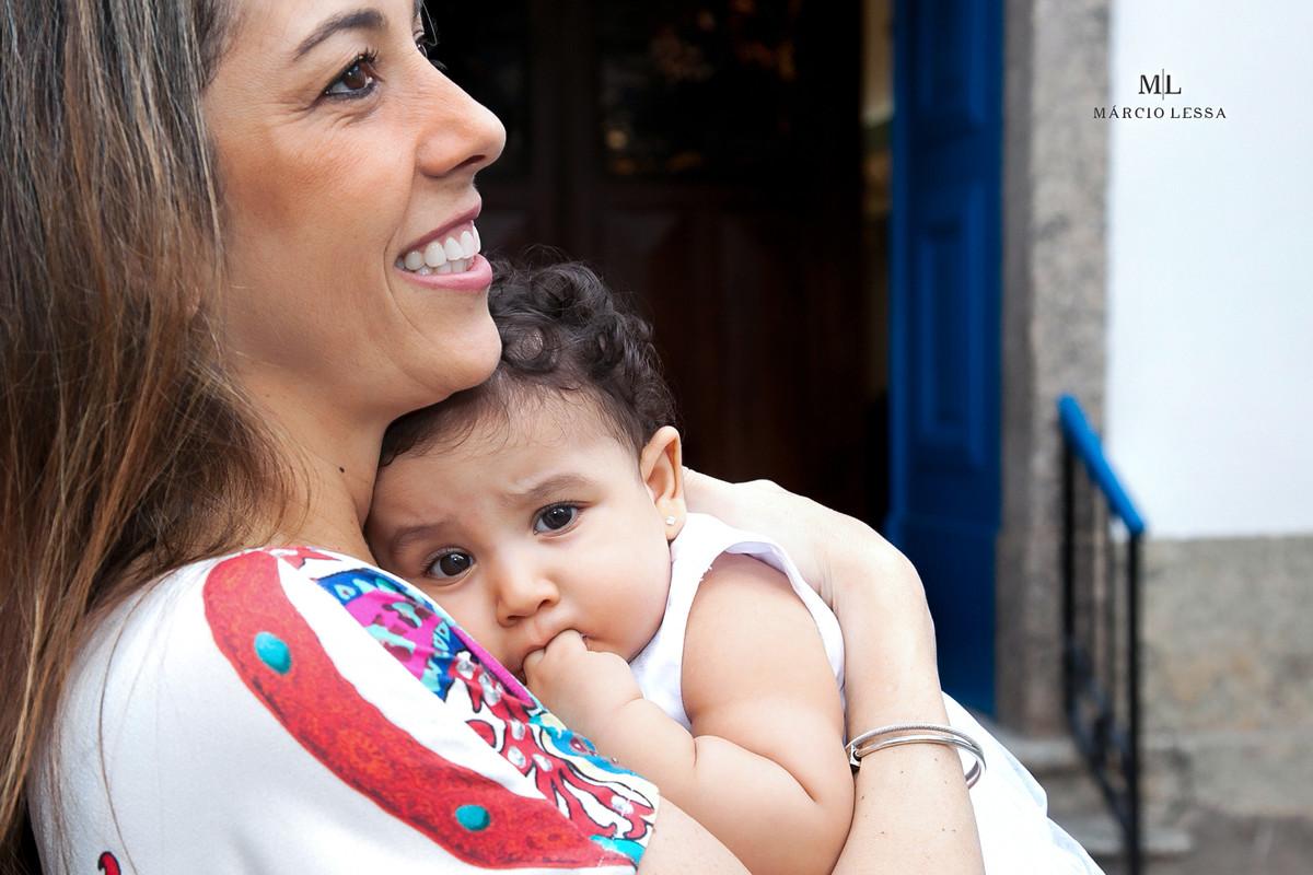 Mãe e Filha | Batizado na Igreja Nossa Senhora da Conceição
