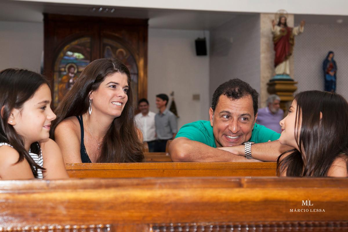 Convidados no Batizado na Igreja Nossa Senhora da Conceição