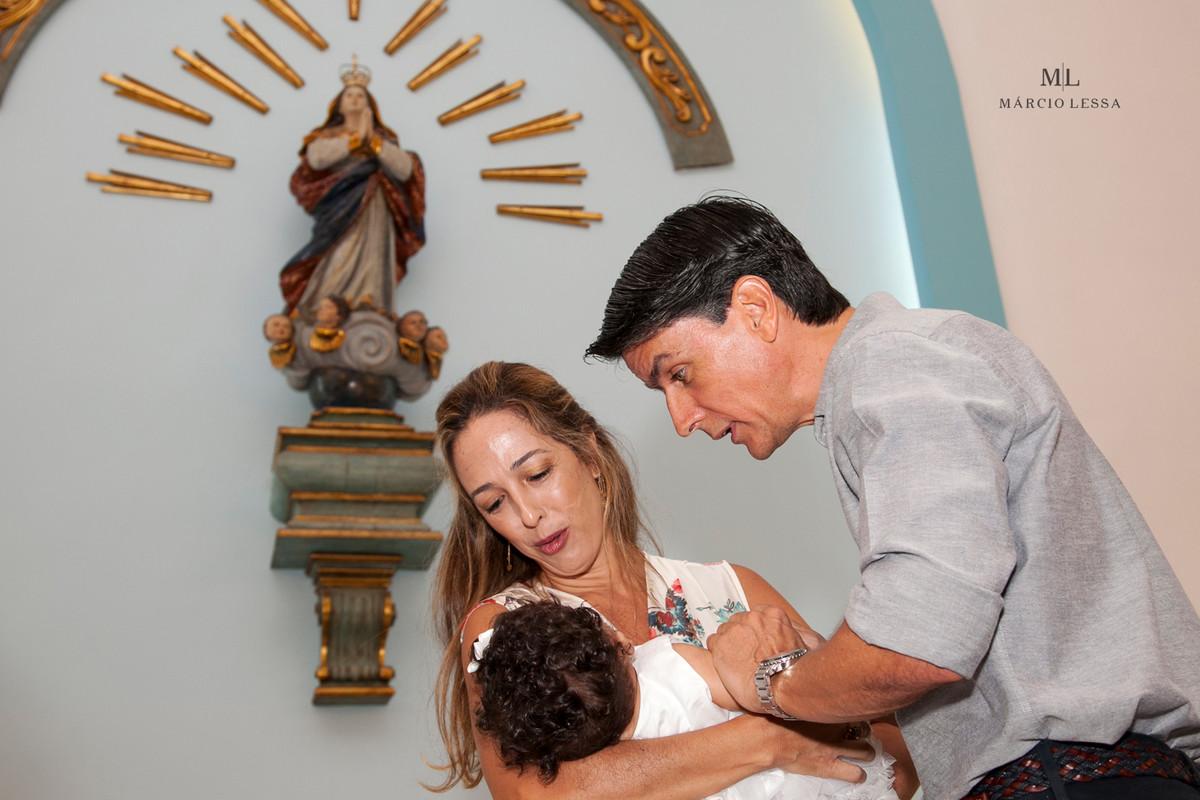 Padrinhos no Batizado na Igreja Nossa Senhora da Conceição