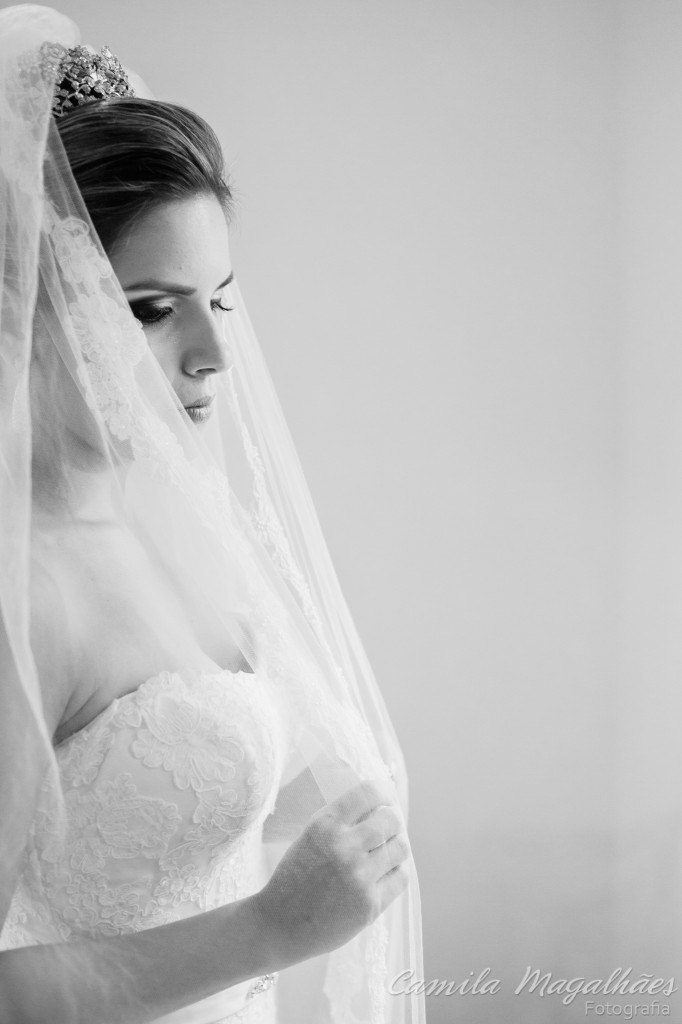 bela noiva pronta para o casamento fotografia