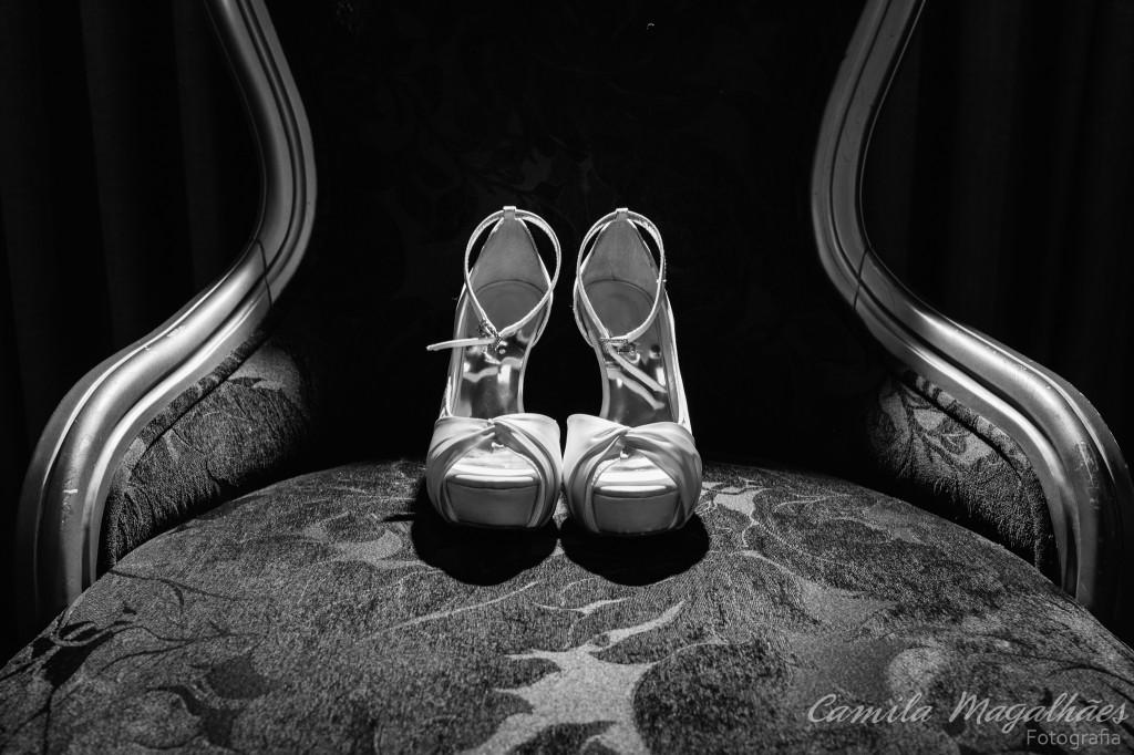 Sapato de noiva fotografia Camila Magalhães