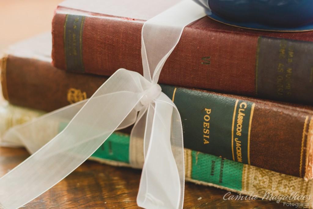 decor com livros camila magalhães Fotografia