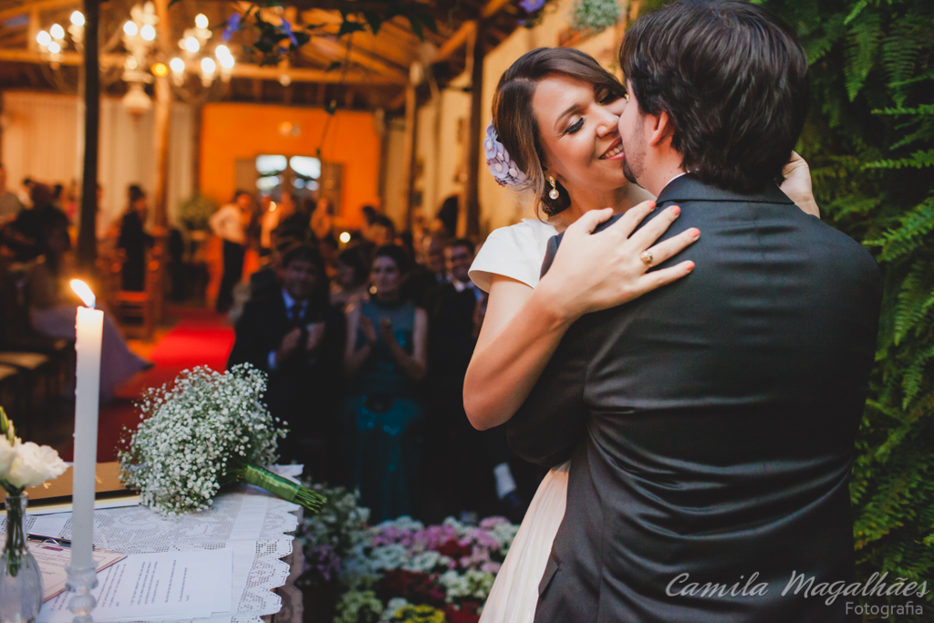 o beijo casamento camila magalhaes fotografia
