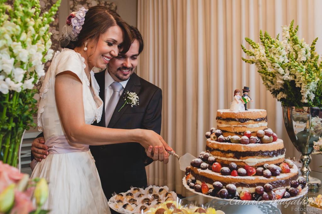 corte do bolo casamento espaço Incasa