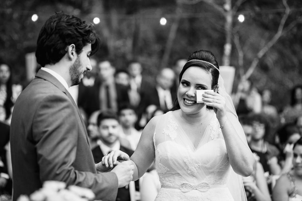 Fotografia emocionante casamento
