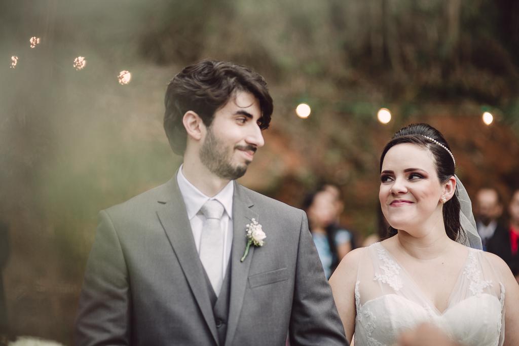 Olhar fotografia de casamento