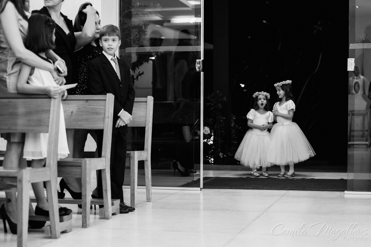 daminhas vestidas de bailarinas