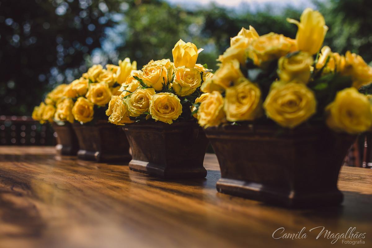 decor amarela de casamento