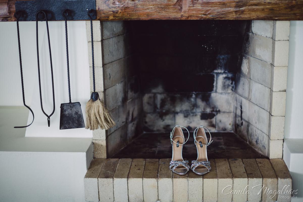 Sapatos de noiva prateados