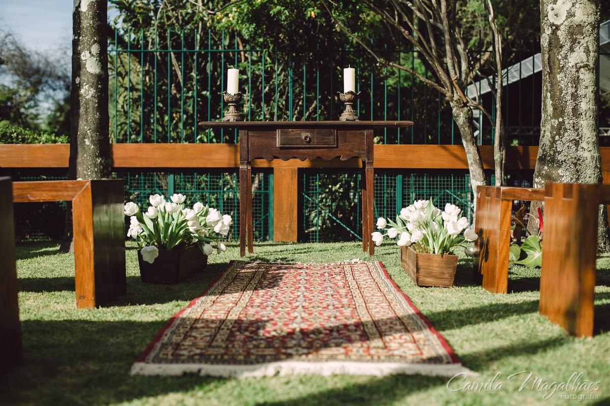 altar casamento em casa