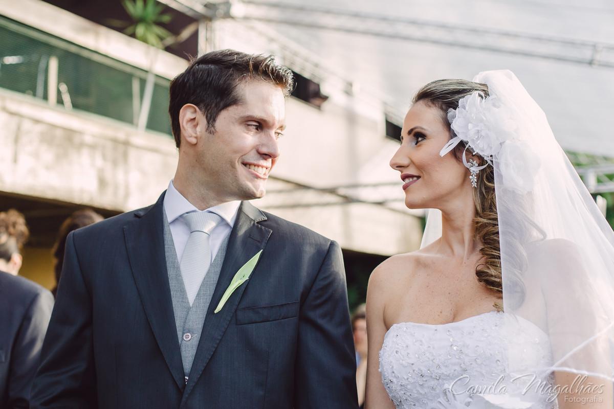 primeiro olhar do casal