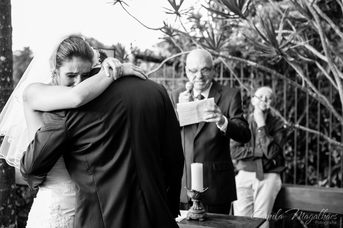 muita emoção fotografia de casamento