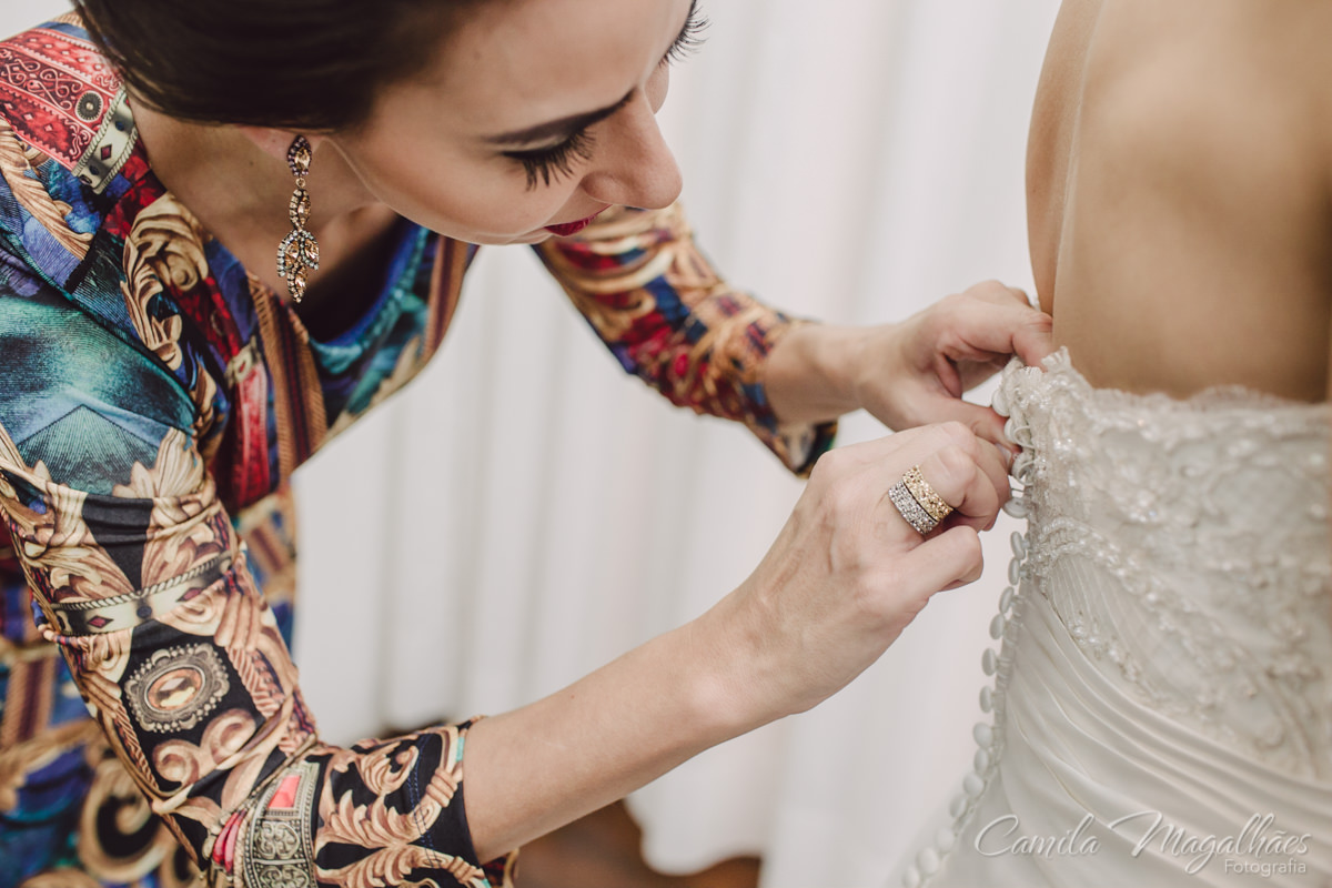 vestido de noiva Rosa clara