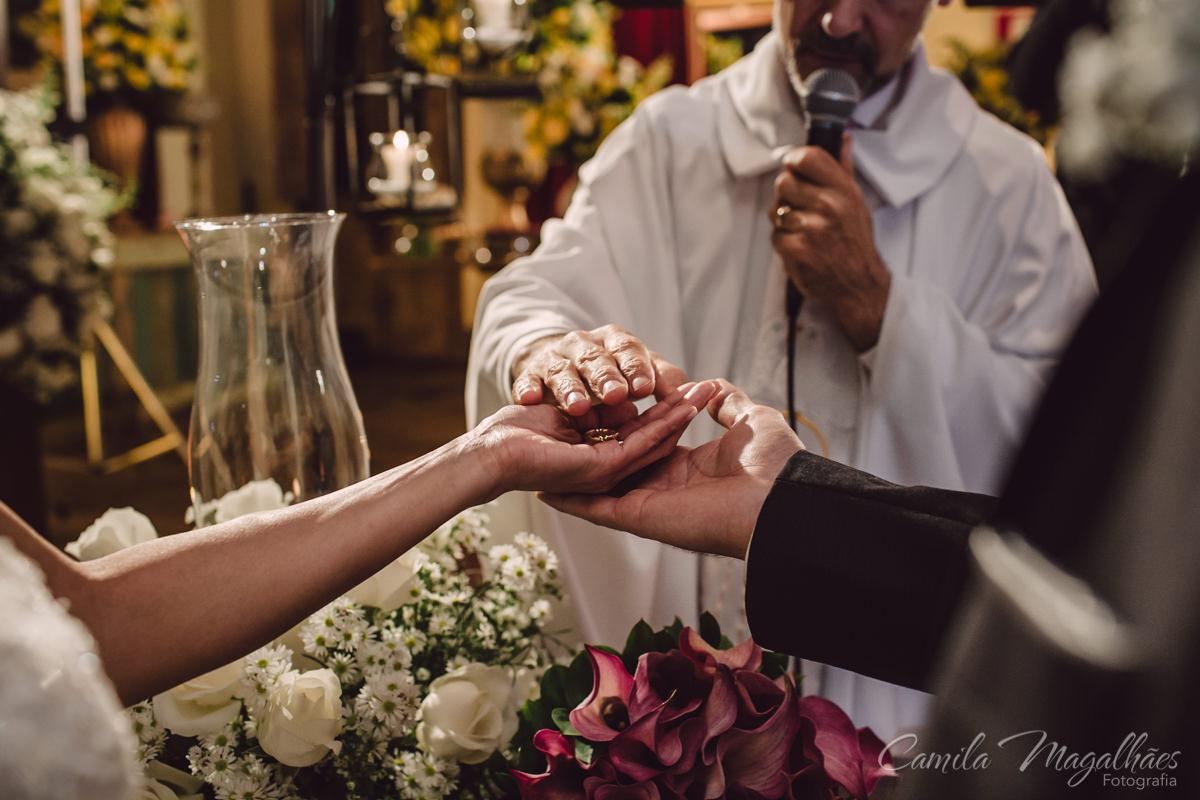 alianças fotografia de casamento