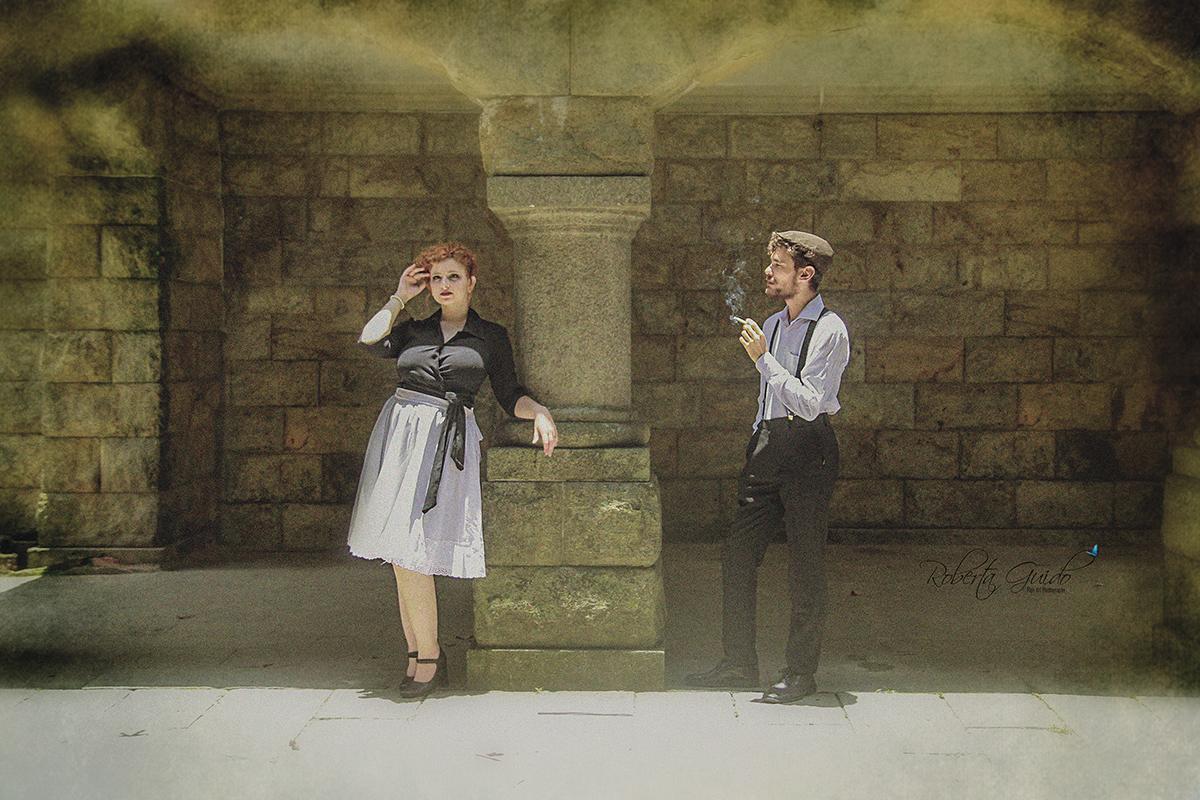 ensaio fotográfico casal antigo