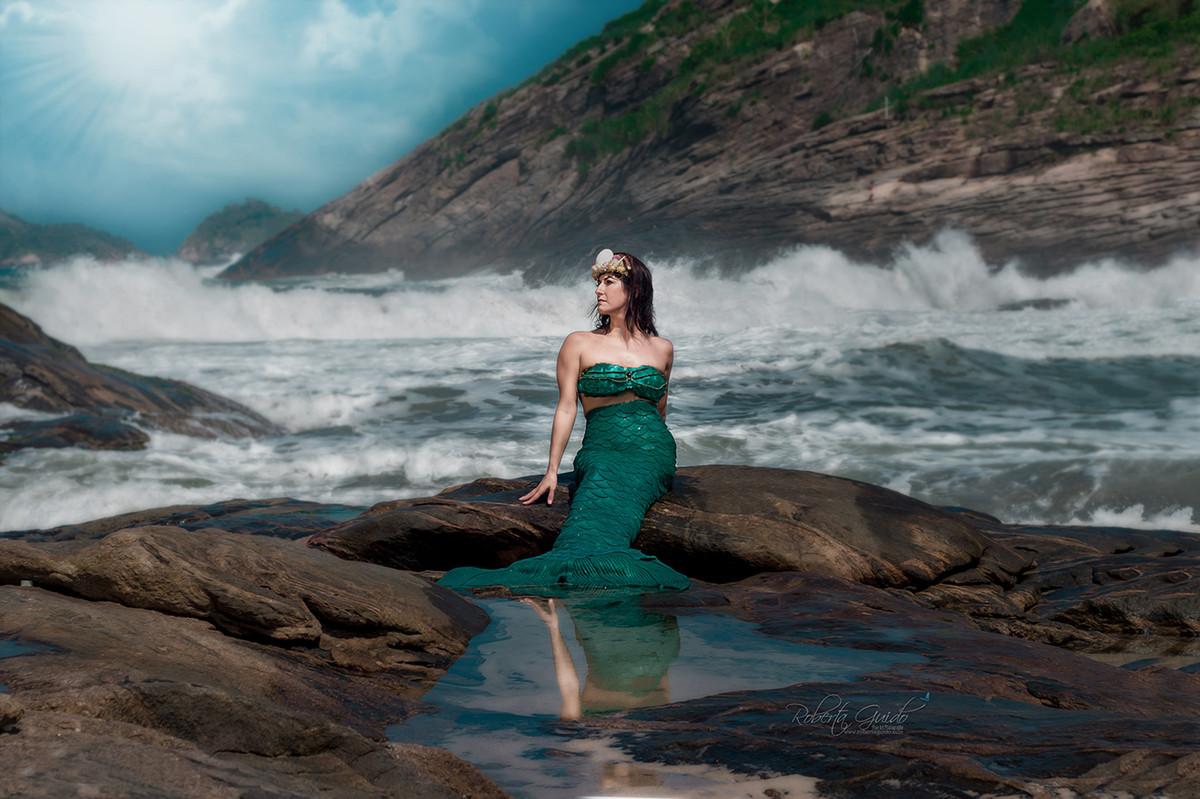 Ensaio fotográfico sereia Rio de Janeiro