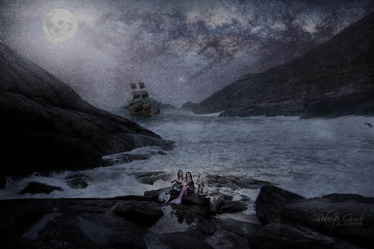 sereias e navio pirata