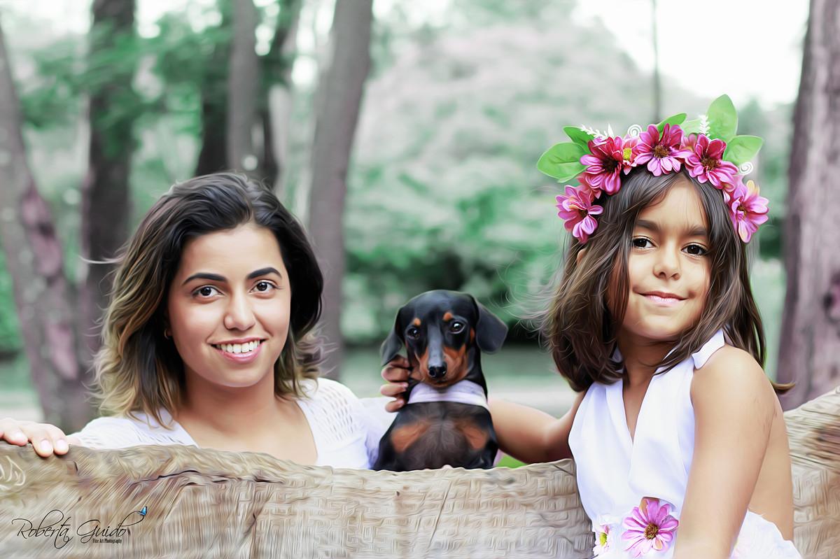 ensaio fotografico com cachorro