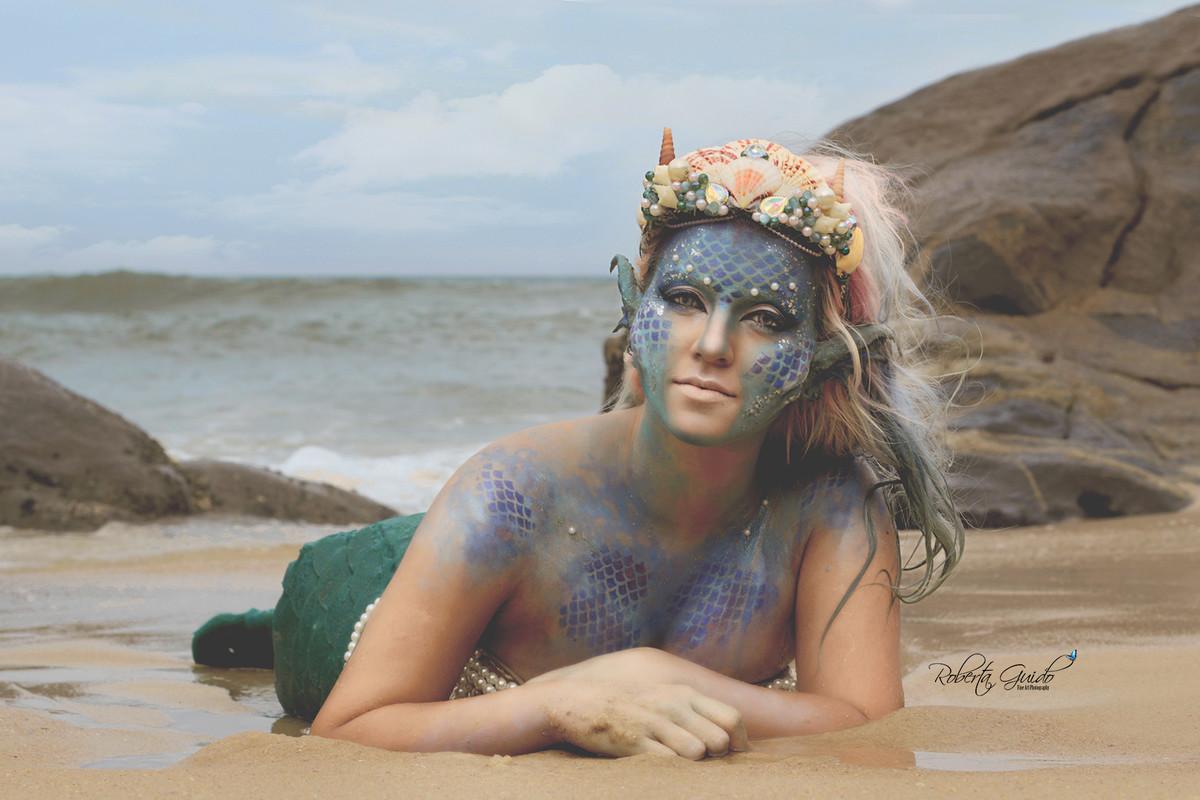 ensaio fotografico de sereia