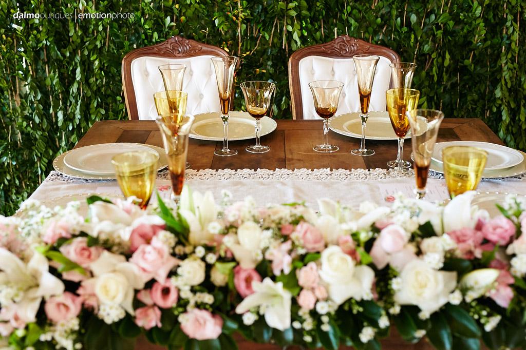 Estância Biguaçu; decoração de casamento, mesa dos noivos