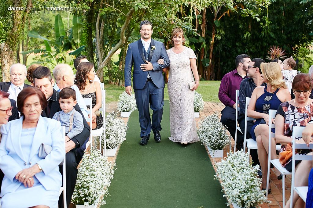 Cerimônia de Casamento, Estância Biguaçu, Casamento ao ar livre, entrada do noivo
