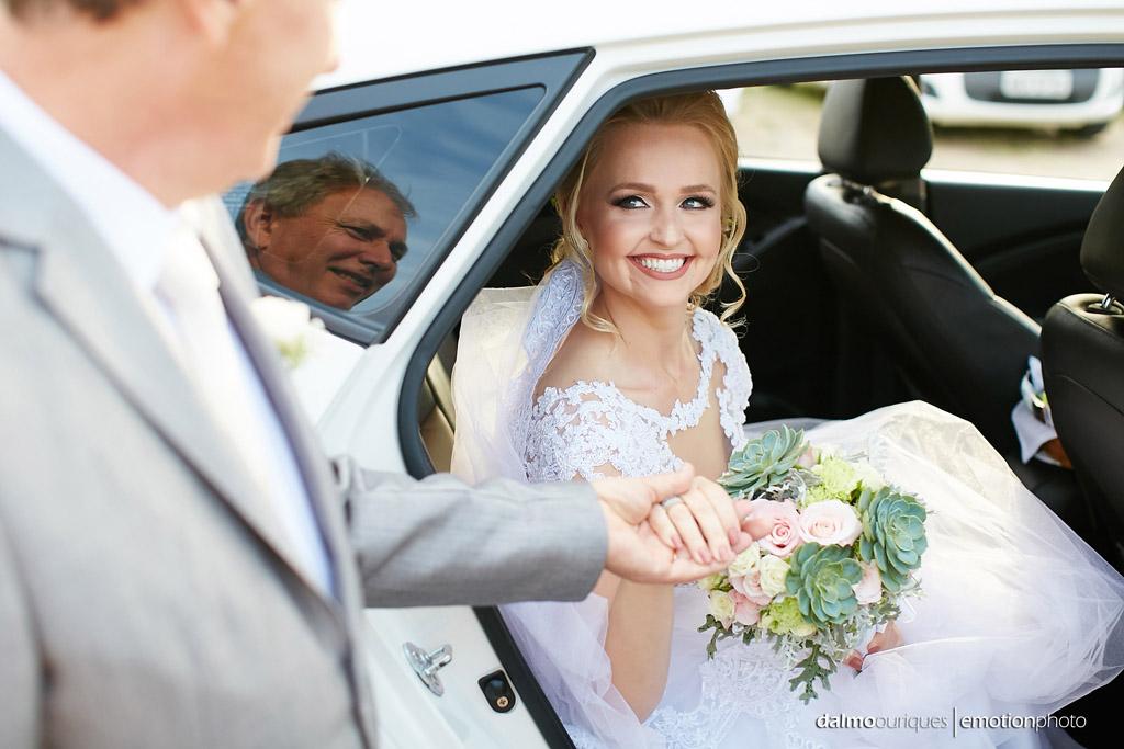 Cerimônia de Casamento, Estância Biguaçu, Casamento ao ar livre,  noiva e o pai