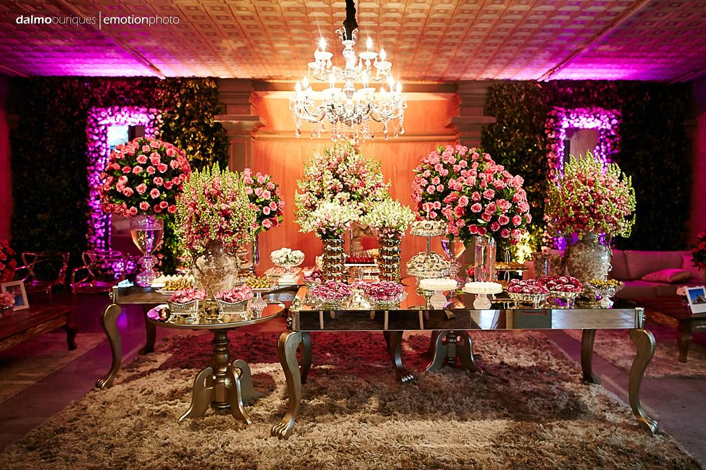Fotografia de Casamento em Florianópolis; Alameda Casa Rosa; decoração de casamento; Mesa de doces