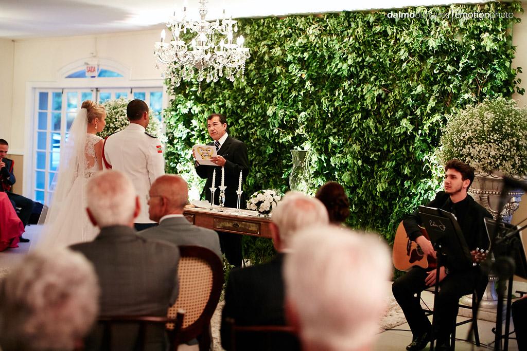 Fotografia de Casamento em Florianópolis;  Alameda Casa Rosa; Cerimônia de Casamento