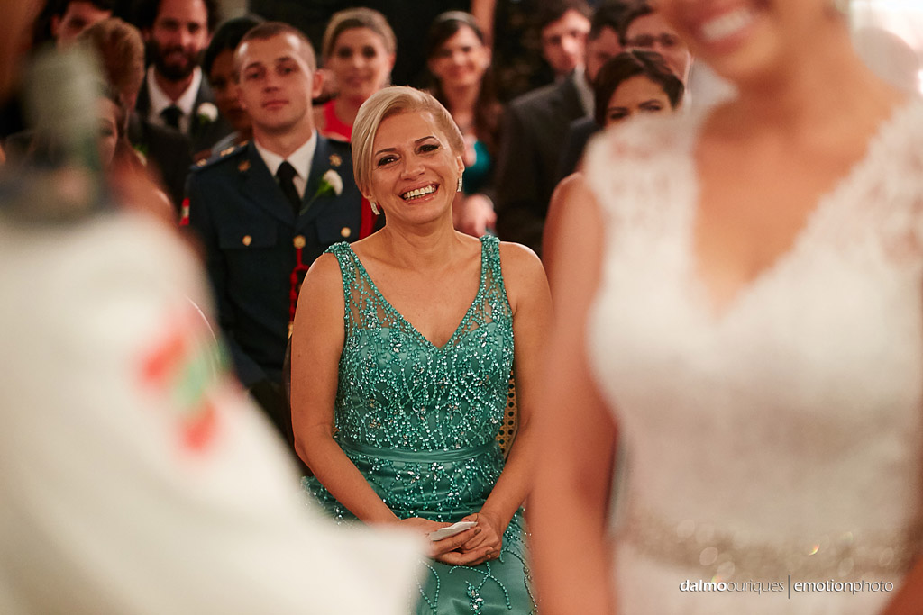 Fotografia de Casamento em Florianópolis;  Alameda Casa Rosa; Cerimônia de Casamento; mãe da noiva