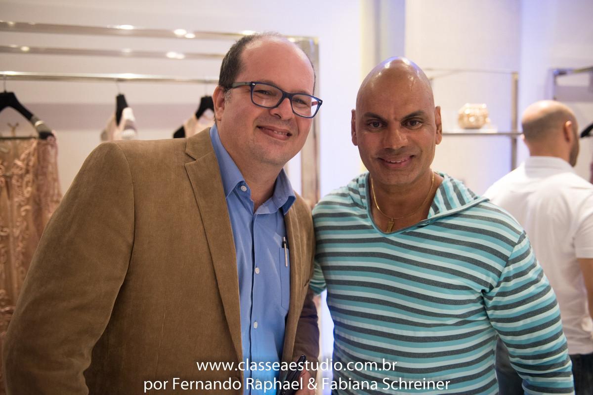 O fotografo Fernando Raphael e o decorador Paulo Azul