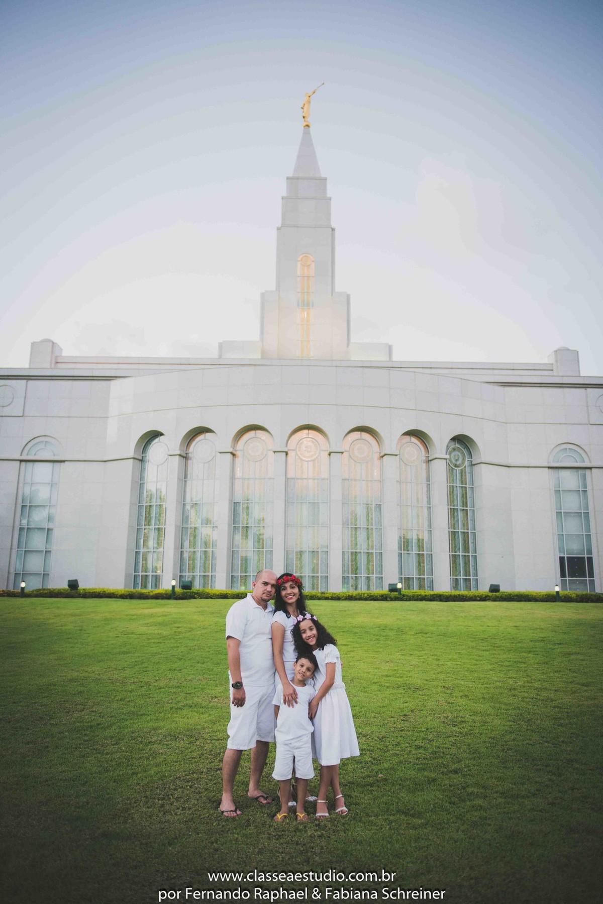 fotos de família na Igreja dos Mórmons