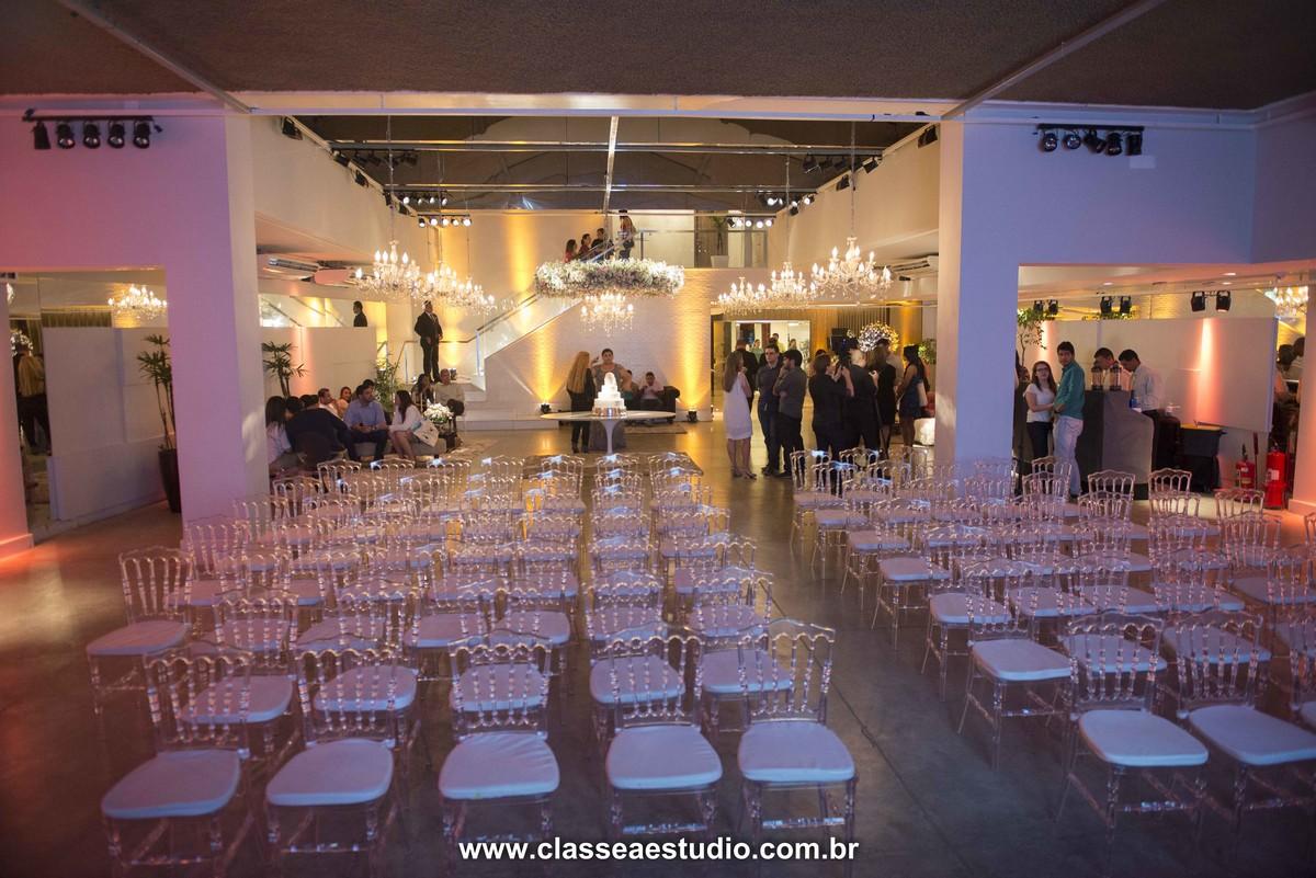 Palestra de casamento no buffet La Salle