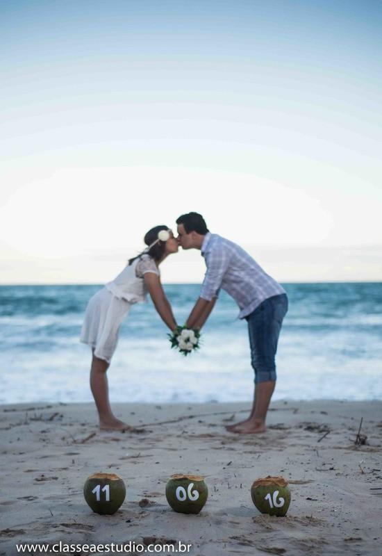 wedding book na praia