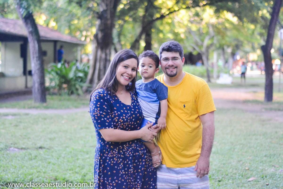 book fotográfico de família no parque