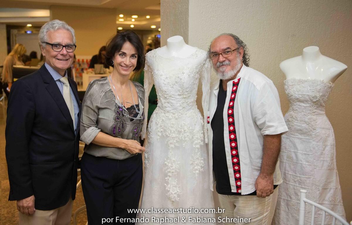 Lounge do estilista Jan Souza com Claudia Matarazzo e Mario Ameni no salão de noivas e festas wedding day