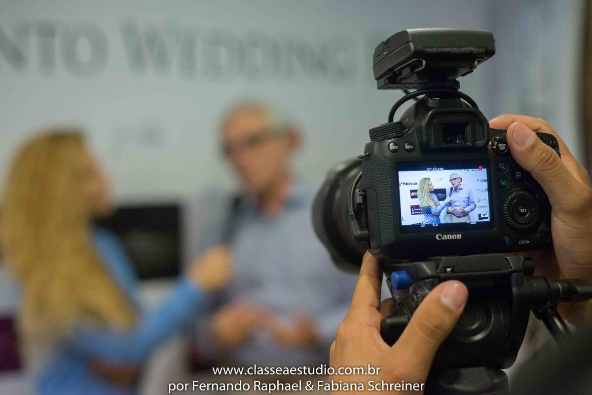 Matéria jornalistica com Mario Ameni no salão de noivas e festas wedding day