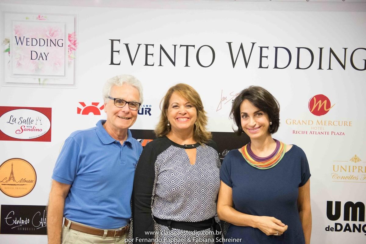 Mario Ameni, Claudia Matarazzo e Valeria da Unipress convites finos no salão de noivas e festas wedding day