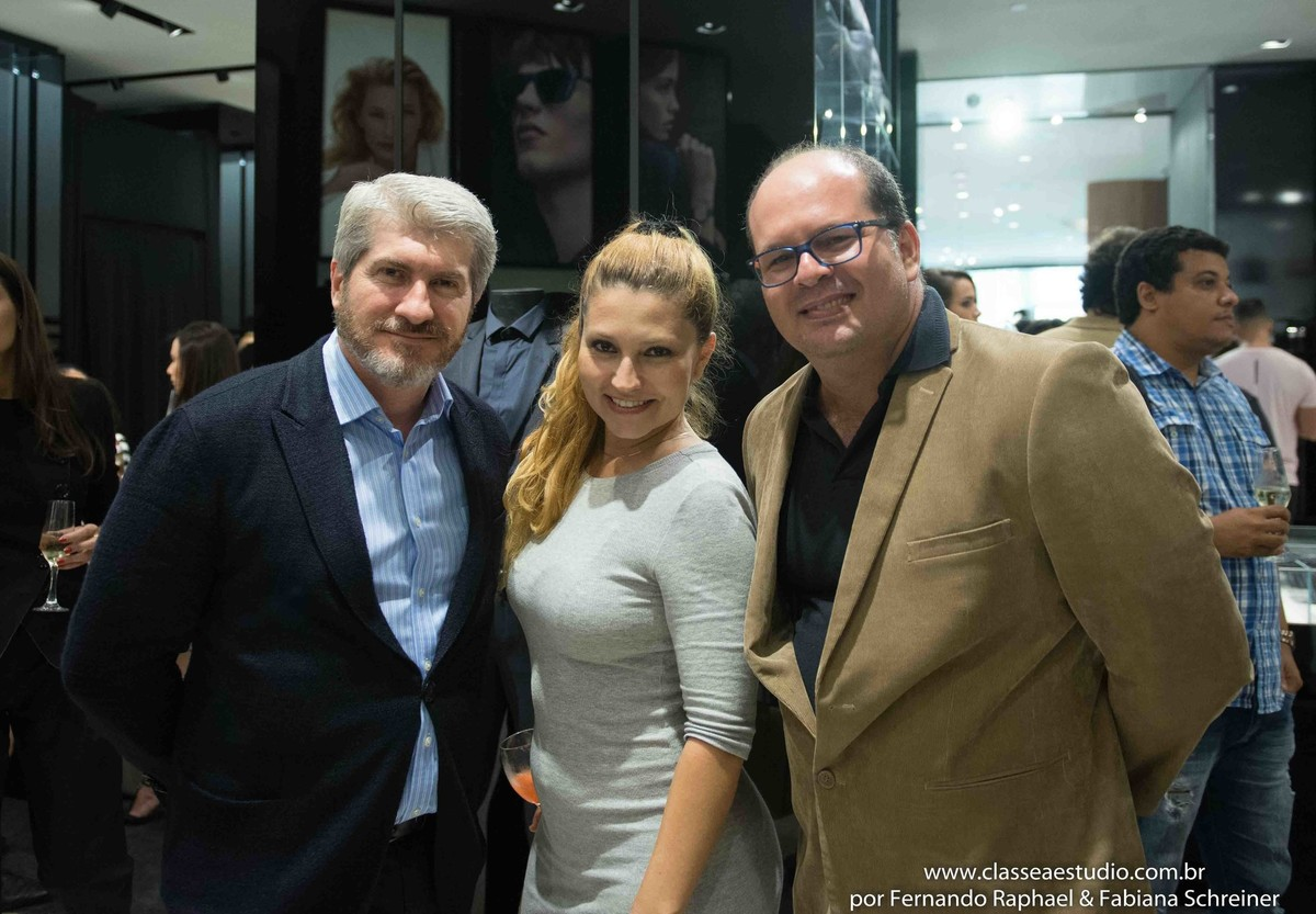 Ricardo Minelli (Armani), Fabiana Schreiner e Fernando Raphael