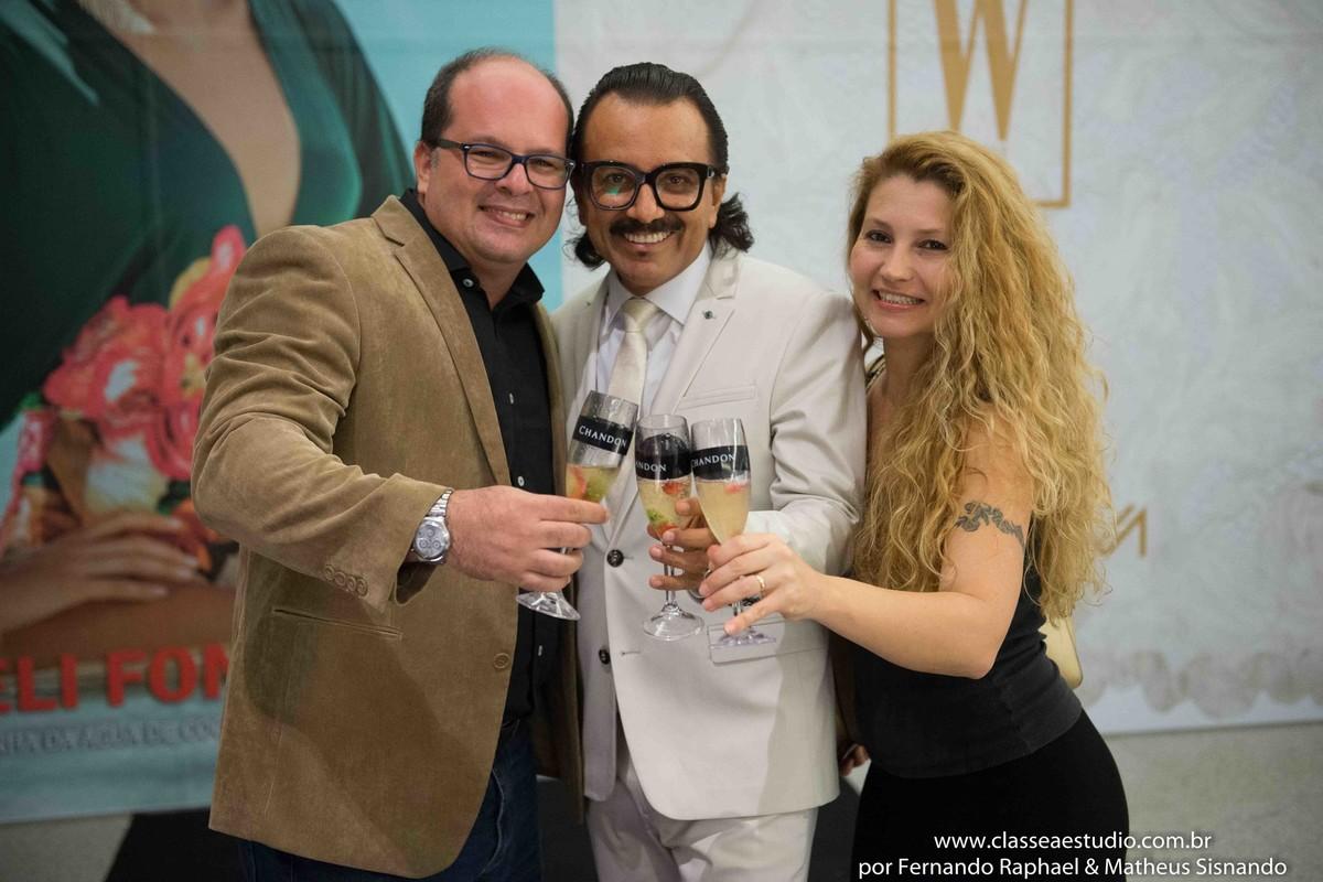 Fernando Raphael, Werner e Fabiana Schreiner