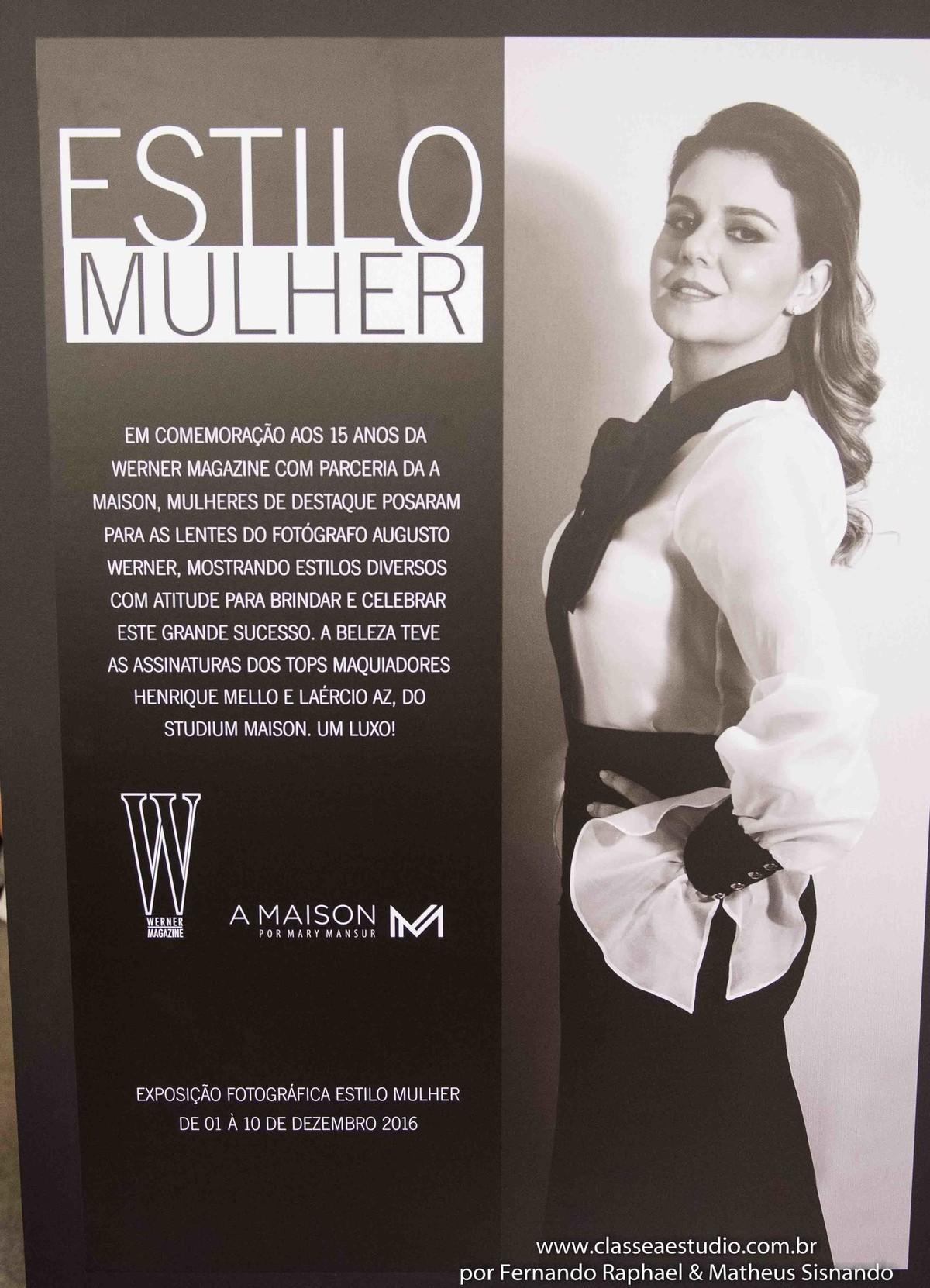 Exposição fotografica da revista Werner no shopping Rio Mar