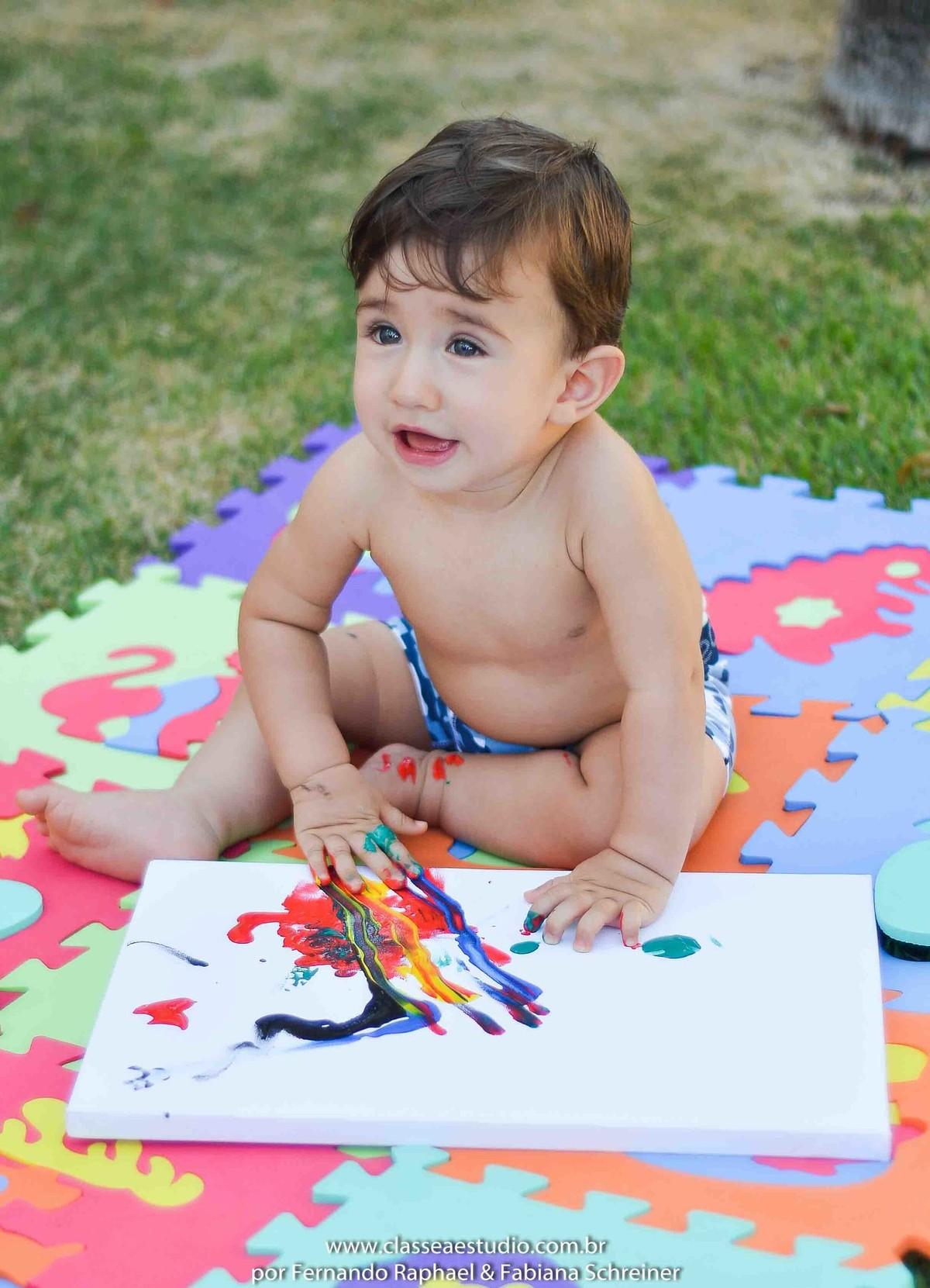 Fotos de bebe em estudio