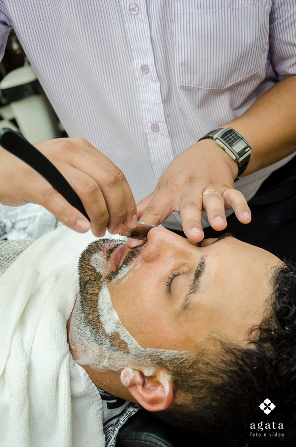 Making of do noivo na barbearia