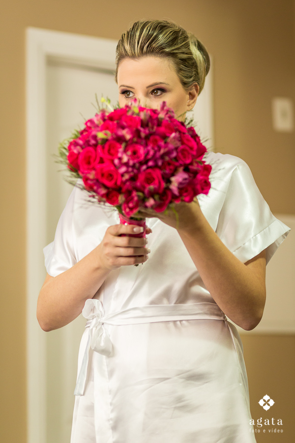 A noiva e seu bouquet